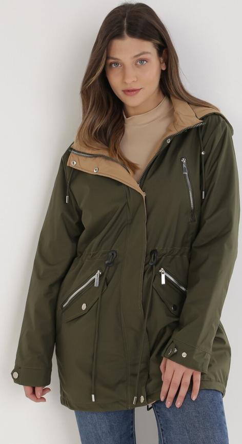 Zielona kurtka born2be w stylu casual