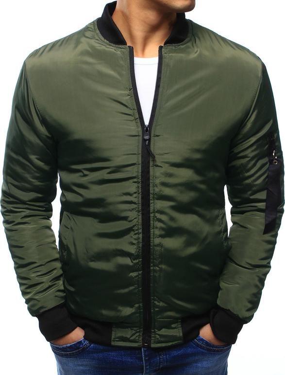 Zielona kurtka dstreet bez wzorów z bawełny