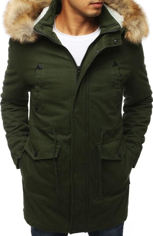 Zielona kurtka Dstreet z bawełny w stylu casual