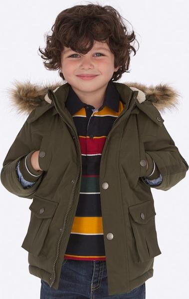 Zielona kurtka dziecięca Mayoral dla chłopców