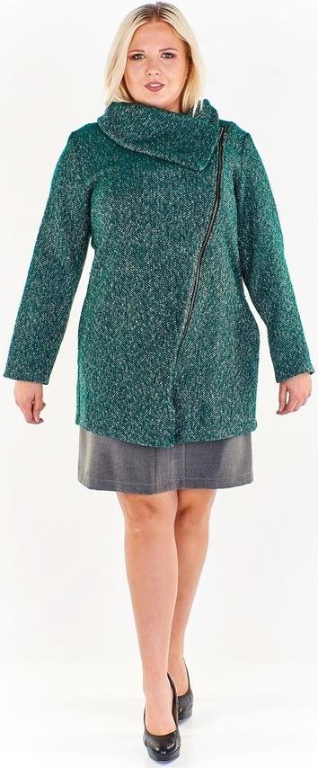 Zielona kurtka Fokus długa w stylu casual