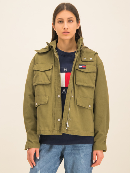 Zielona kurtka Tommy Jeans krótka