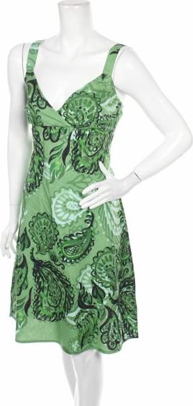 Zielona sukienka Aller Simplement mini na ramiączkach z dekoltem w kształcie litery v