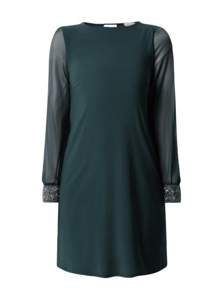 Zielona sukienka Apricot z długim rękawem mini