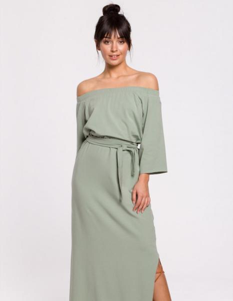 Zielona sukienka Be maxi
