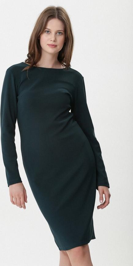 Zielona sukienka born2be mini z długim rękawem w stylu casual