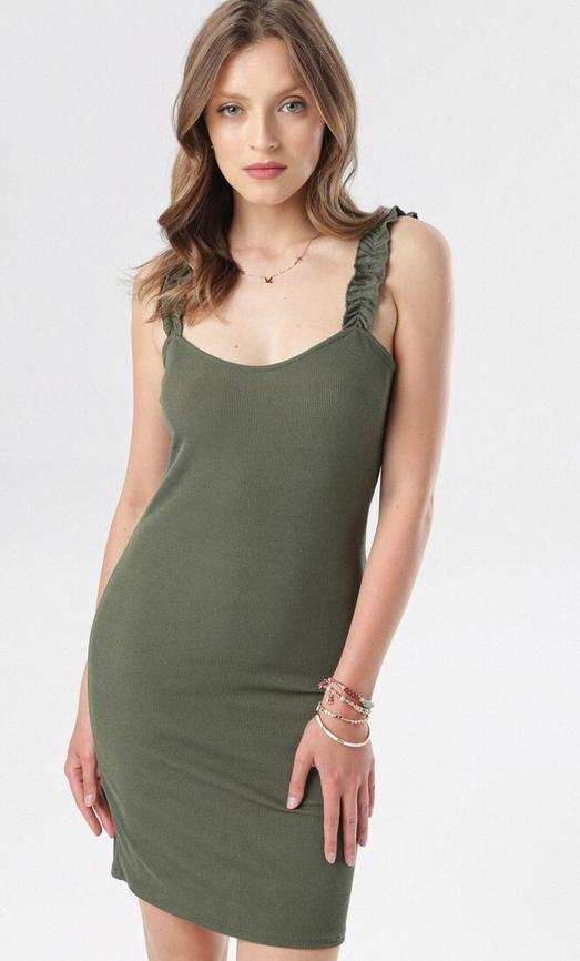 Zielona sukienka born2be w stylu casual mini