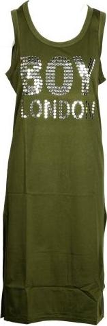 Zielona sukienka BOY LONDON mini z bawełny bez rękawów