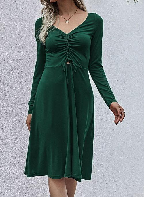 Zielona sukienka Cikelly kopertowa midi