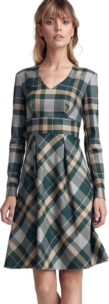 Zielona sukienka Colett z długim rękawem