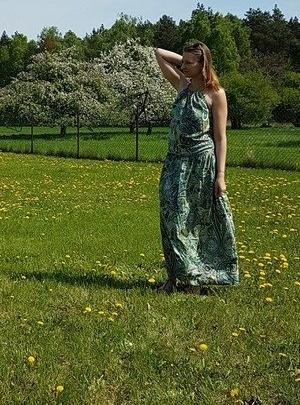 Zielona sukienka dziewczęca Meleksima