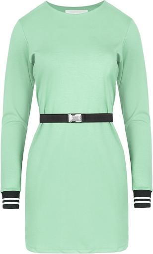 Zielona sukienka ELEONORA PORTERA z dzianiny w stylu casual