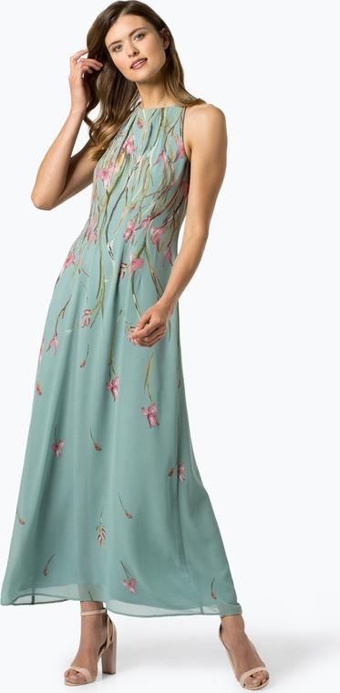 Zielona sukienka Esprit bez rękawów maxi z okrągłym dekoltem