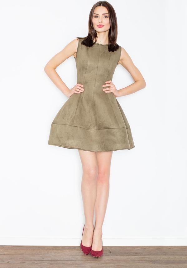 Zielona sukienka Figl bez rękawów mini
