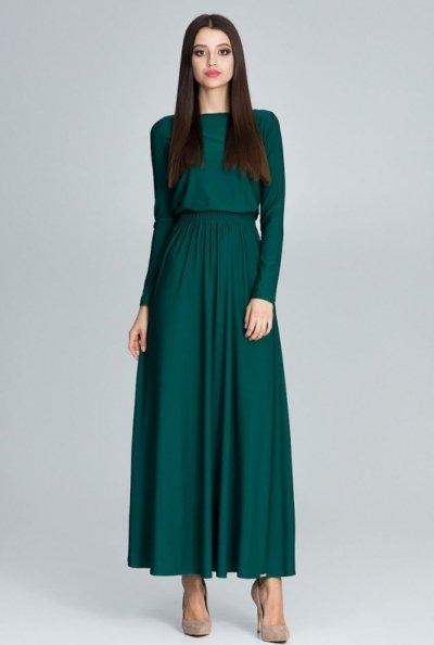 Zielona sukienka Figl maxi
