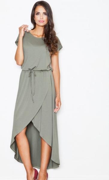 Zielona sukienka Figl z krótkim rękawem