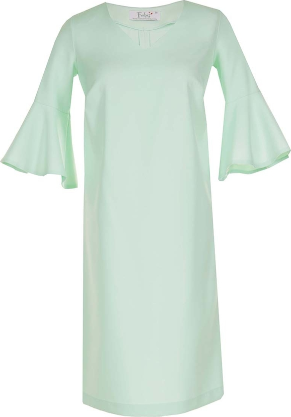 Zielona sukienka Fokus midi z długim rękawem