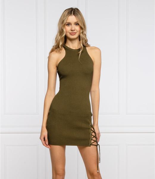 Zielona sukienka Guess mini bez rękawów