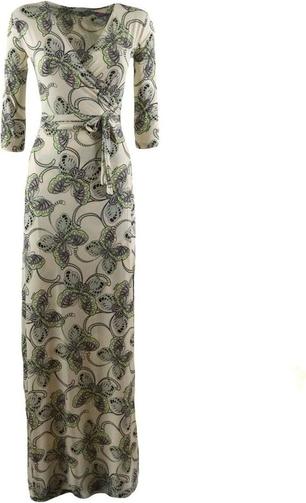 Zielona sukienka Il Thè Delle 5 maxi z długim rękawem