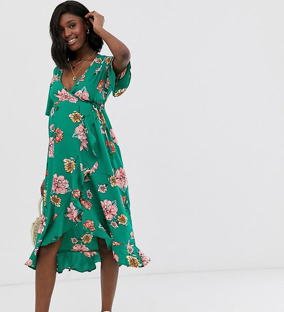Zielona sukienka Influence Maternity maxi