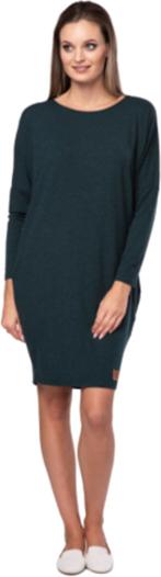 Zielona sukienka Look made with love z długim rękawem oversize