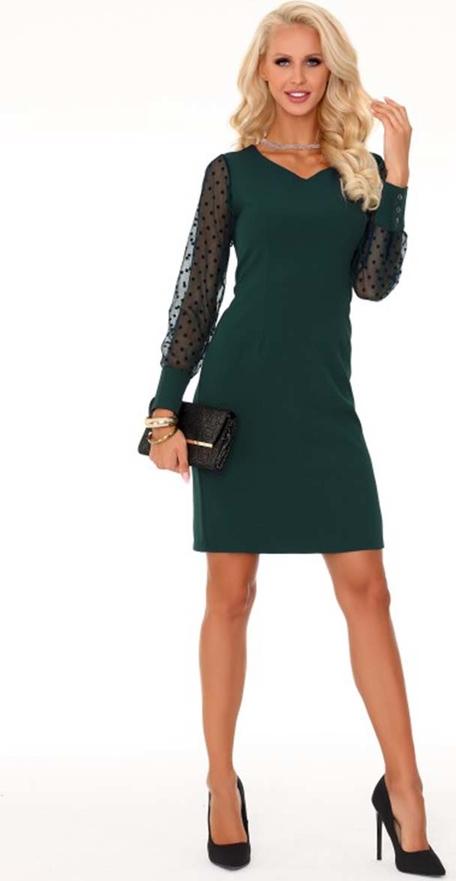Zielona sukienka MERRIBEL midi z dekoltem w kształcie litery v z tiulu