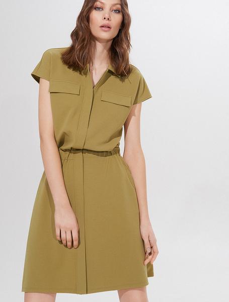 Zielona sukienka Mohito szmizjerka