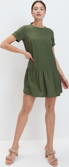 Zielona sukienka Mohito z okrągłym dekoltem mini