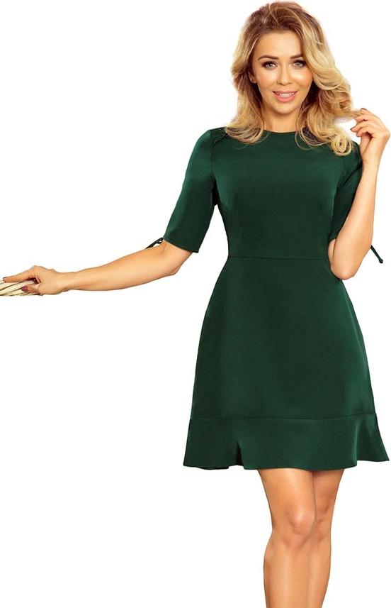 Zielona sukienka NUMOCO mini z okrągłym dekoltem