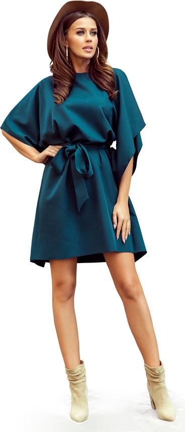 Zielona sukienka NUMOCO rozkloszowana