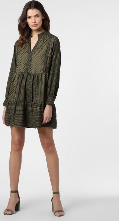 Zielona sukienka Only mini z długim rękawem