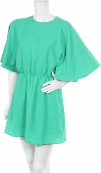 Zielona sukienka PEPALOVES w stylu casual mini z długim rękawem