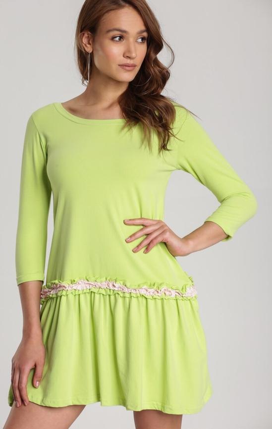 Zielona sukienka Renee w stylu casual mini