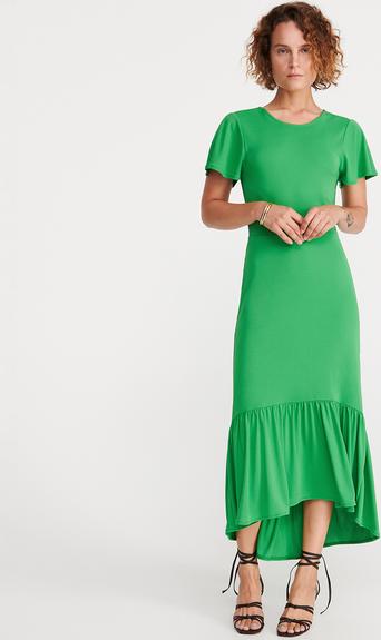 Zielona sukienka Reserved maxi z okrągłym dekoltem