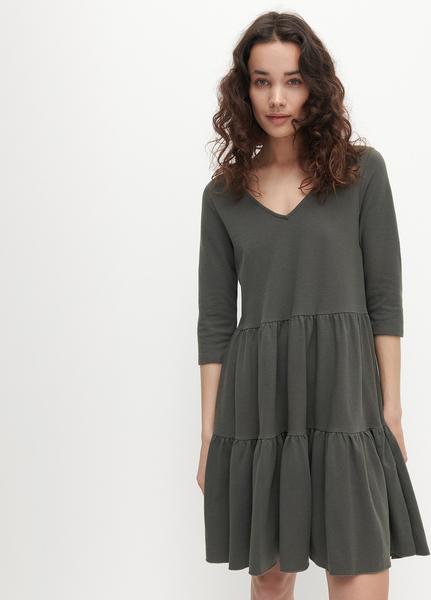 Zielona sukienka Reserved w stylu casual z dekoltem w kształcie litery v