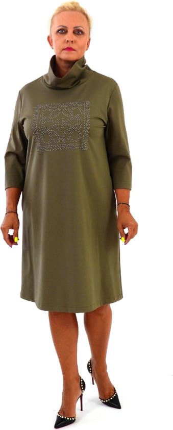 Zielona sukienka Roxana - sukienki z długim rękawem