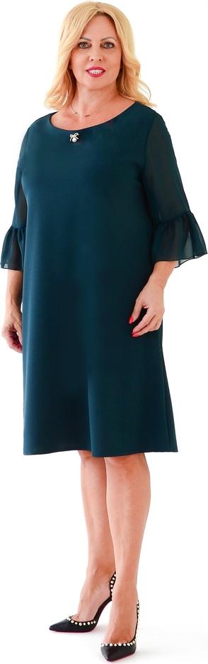 Zielona sukienka Roxana - sukienki z długim rękawem midi