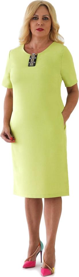 Zielona sukienka Roxana - sukienki z krótkim rękawem