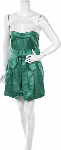 Zielona sukienka Spotlight By Warehouse bez rękawów mini