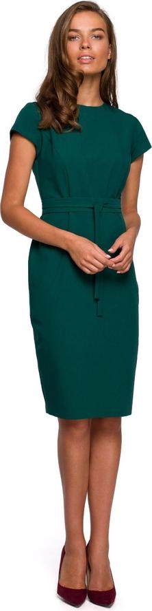 Zielona sukienka Style z tkaniny