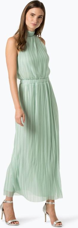 Zielona sukienka Vila z dekoltem typu choker bez rękawów w stylu casual