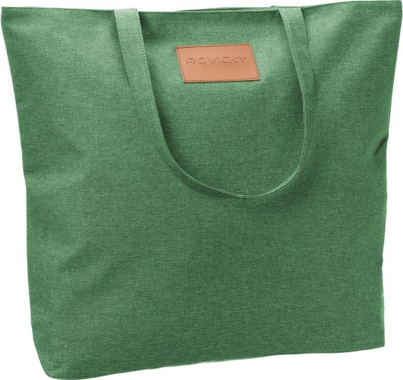 Zielona torebka Rovicky w wakacyjnym stylu duża ze skóry ekologicznej