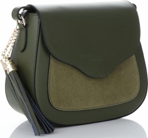 Zielona torebka VITTORIA GOTTI z frędzlami