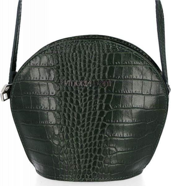Zielona torebka VITTORIA GOTTI z tłoczeniem średnia ze skóry