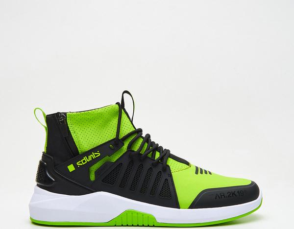 Zielone buty sportowe Cropp w młodzieżowym stylu sznurowane