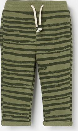 Zielone spodnie dziecięce Reserved w paseczki