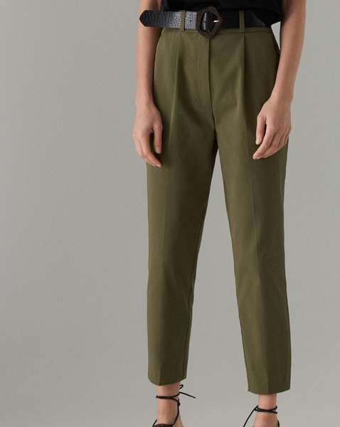 Zielone spodnie Mohito