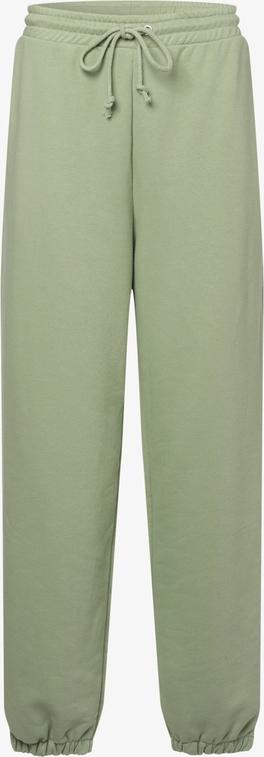 Zielone spodnie NA-KD z dresówki w sportowym stylu