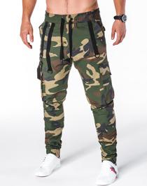 Zielone spodnie Ombre Clothing
