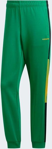 Zielone spodnie sportowe Adidas Originals z dresówki